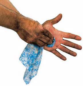 Scrubs hand wipes