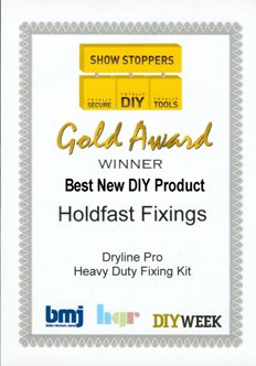 Best New DIY product certificate